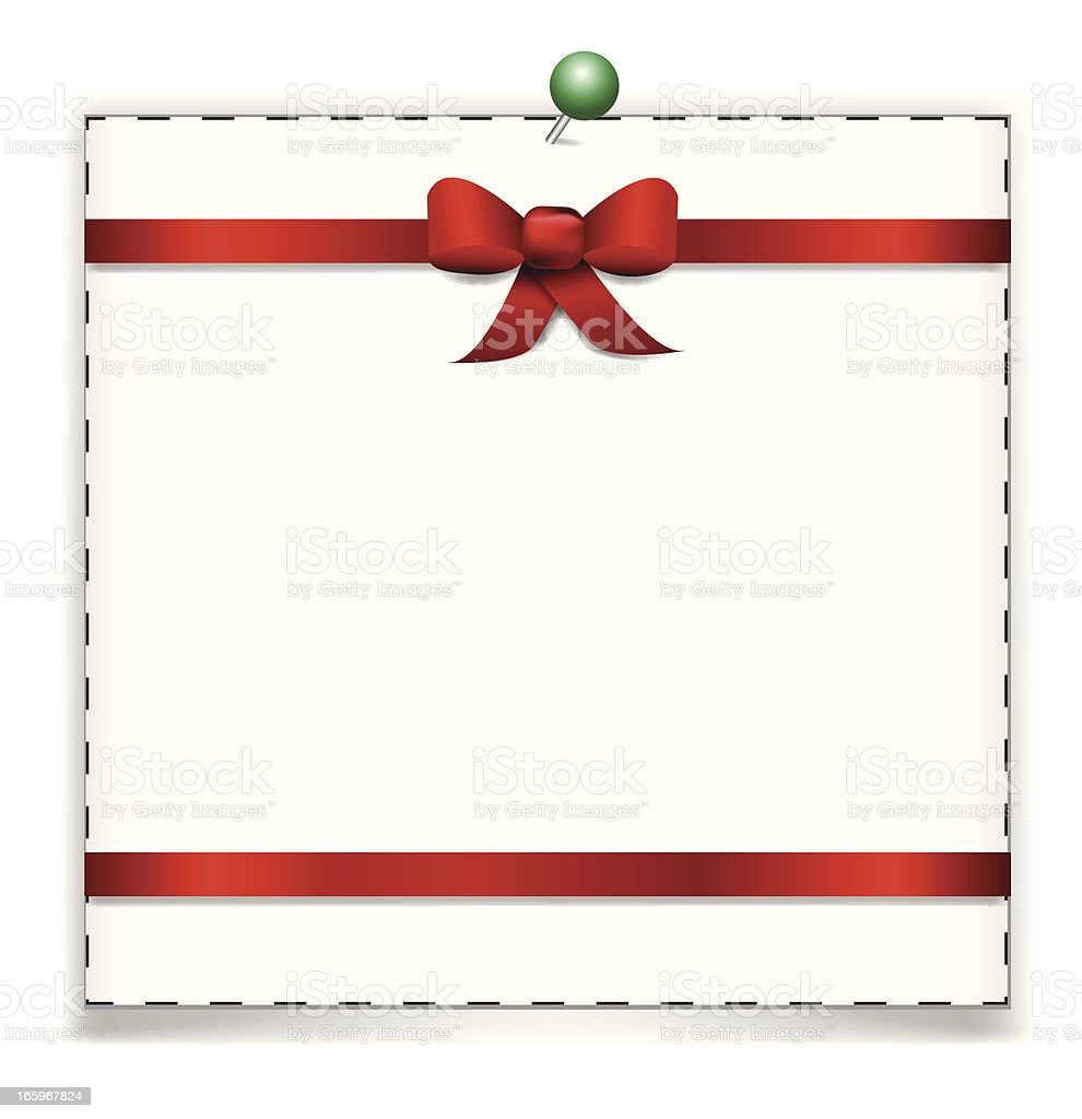 Coupon with Red Ribbon royalty-free stock vector art