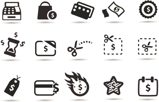 Coupons, Deals and Saving Icons