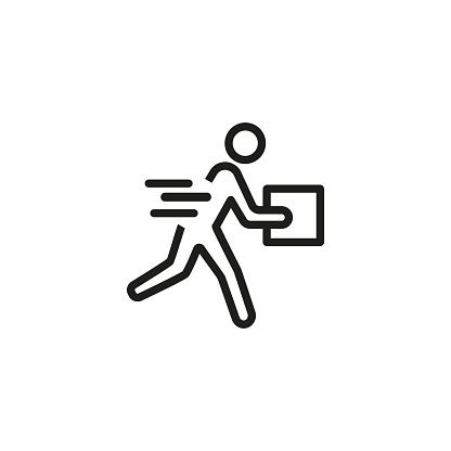 Courier delivery line icon