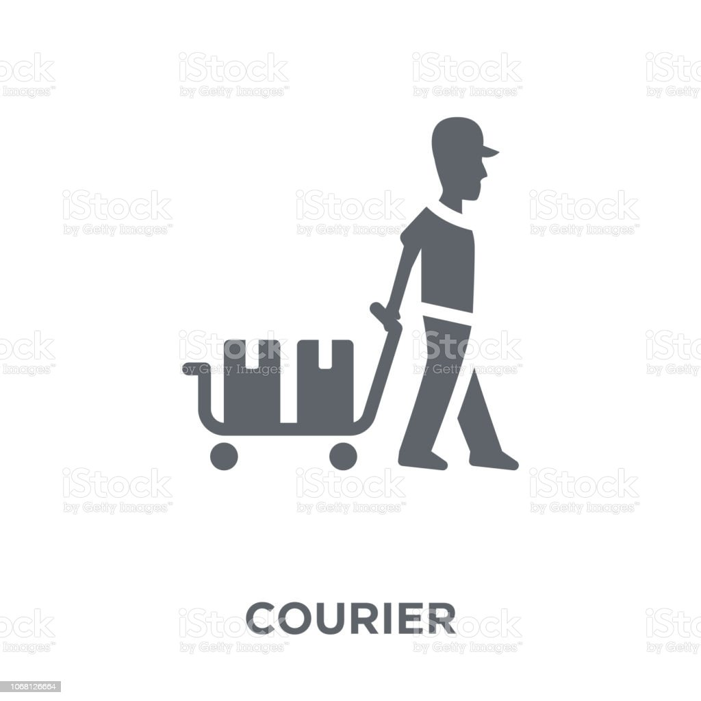 Courier icon from Delivery and logistic collection. vector art illustration