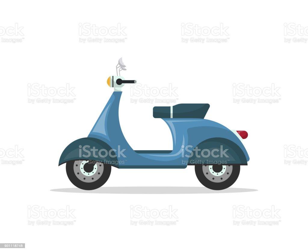 Kurye motosiklet izole vektör simgesi - Royalty-free Arşivsel Vector Art