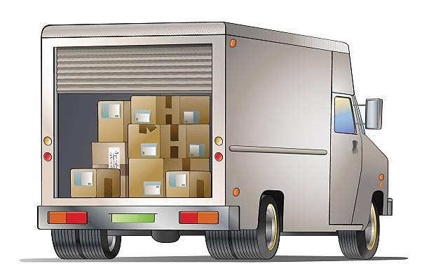 Courier truck – Vektorgrafik