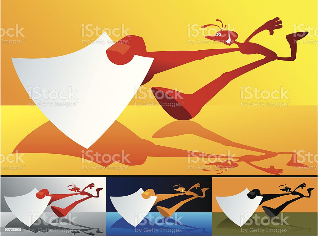 courier royalty-free stock vector art