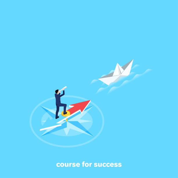 course for success vector art illustration