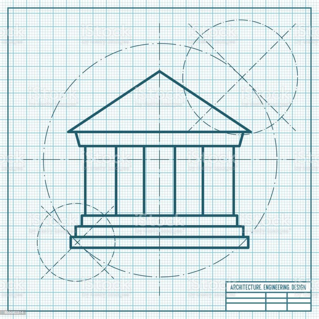 court building vector icon vector art illustration