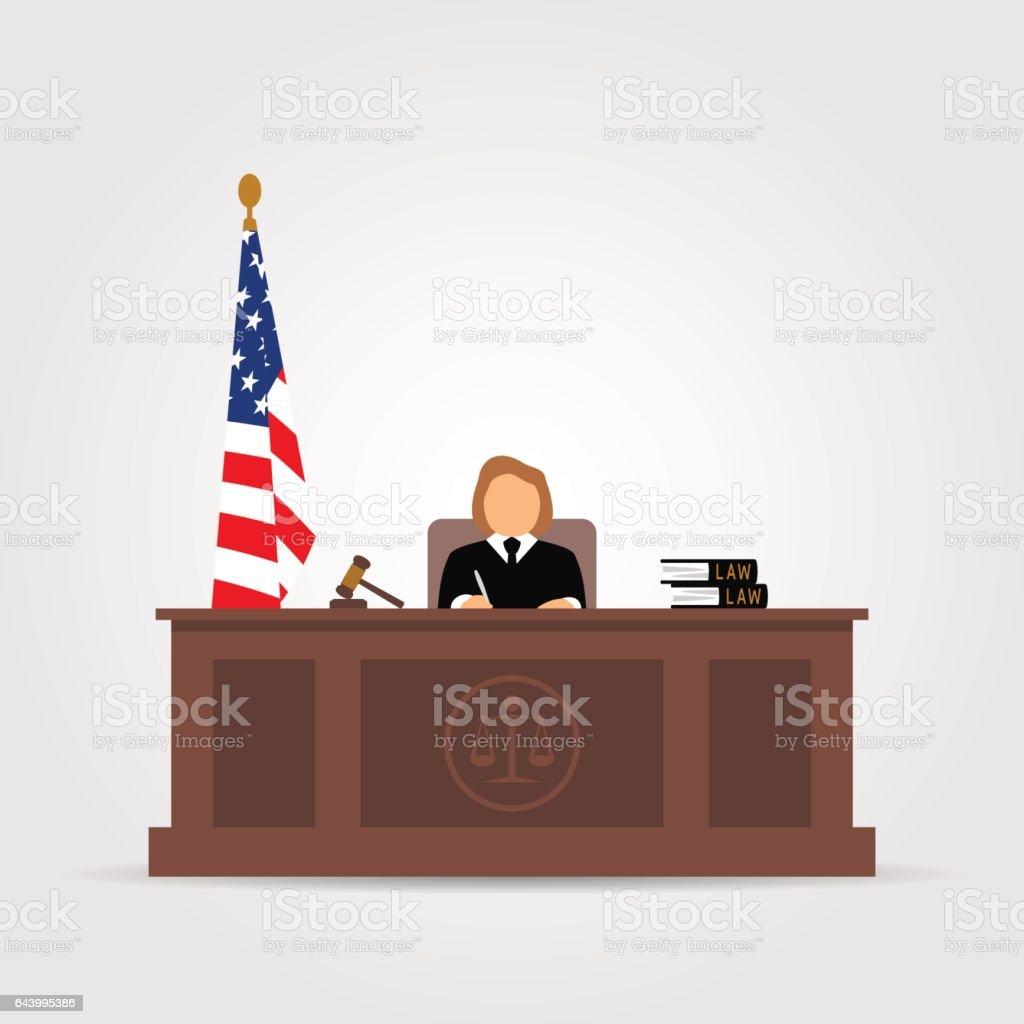 Court icon vector art illustration