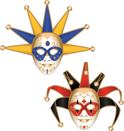 Court Jester/Joker Mardi Gras Masquerade Party Masks