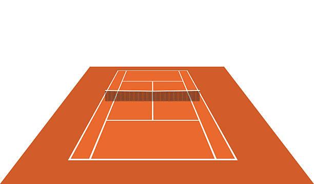 court geöffnet (sand)-vektor - wimbledon stock-grafiken, -clipart, -cartoons und -symbole