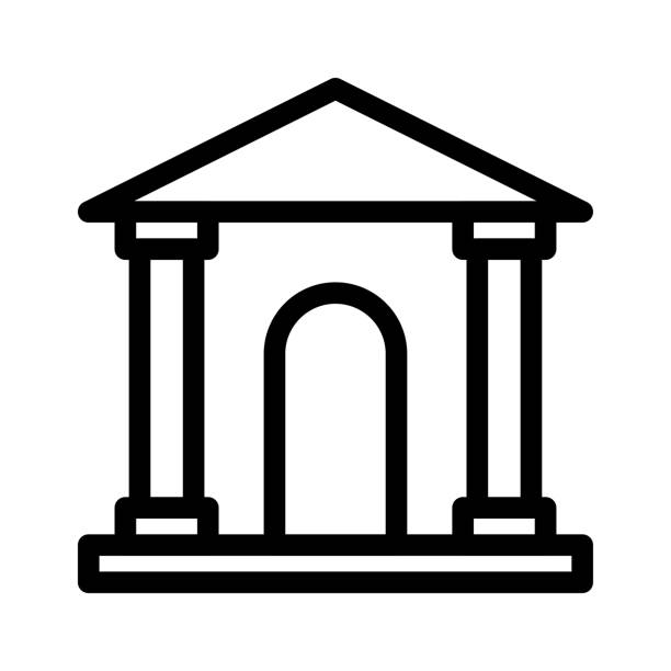 court Thin Line Vector Icon court  Thin Line Vector Icon supreme court stock illustrations