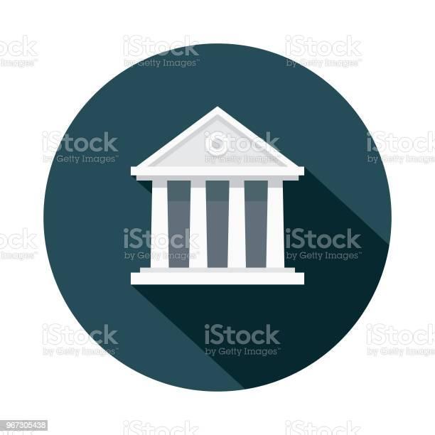 Tingshuset Platt Design Brottslighet Straffikonen-vektorgrafik och fler bilder på Arkitektonisk kolonn