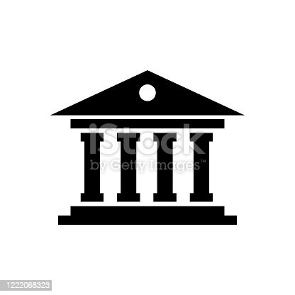 istock Courthouse icon flat vector template design trendy 1222068323
