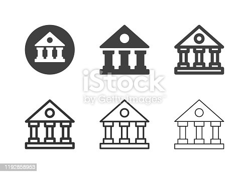 Courthouse Icons Multi Series Vector EPS File.