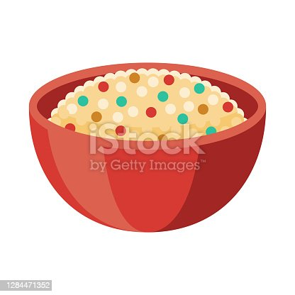 istock Couscous Icon on Transparent Background 1284471352