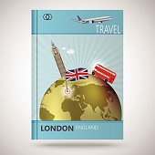 Cover brochure design, abstract traveling to London
