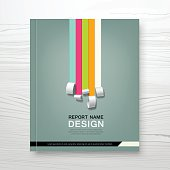 Cover Annual report colorful paper roll concept