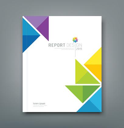 Cover Annual report colorful windmill origami paper
