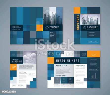 Cover Book Design Set, Abstract Blue Pixel Background vector Template Brochures, flyer, presentations, leaflet, magazine, invitation card, annual report, Advertising
