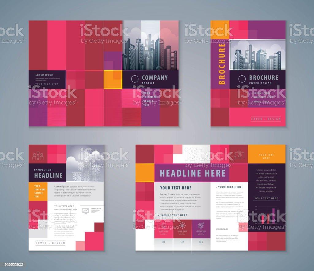 Cover Buch Design Festgelegt Abstrakte Pixel Hintergrund Vektor ...