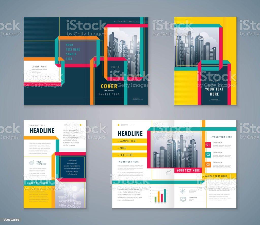 Cover Buch Design Festgelegt Abstract Band Background Vektor Vorlage ...