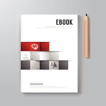 Cover Book Digital Design Minimal Style Template.