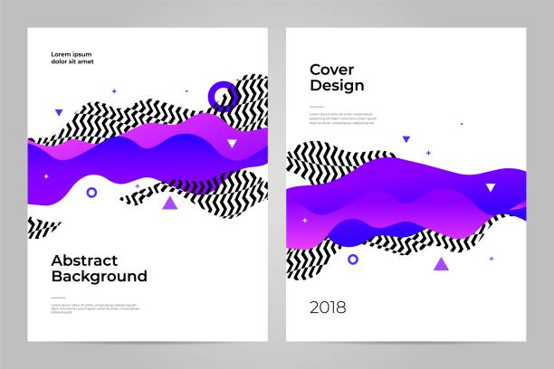 cover design. abstract background. layout design template. - abstract drawings stock illustrations