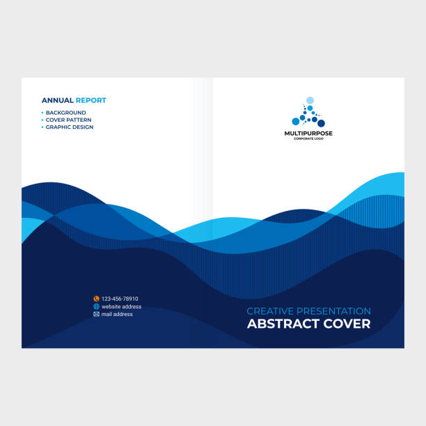 Cover design, abstract smooth lines made of waves. EPS 10 wave pattern stock illustrations