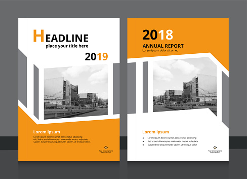 Cover design and annual report cover template A4 size for brochure design, magazine, poster, flyer etc. Vector illustration EPS-10 sample image with Gradient Mesh.