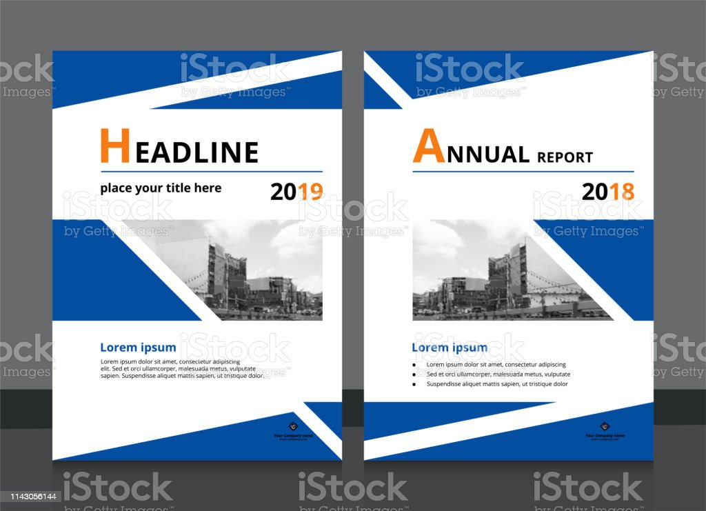 Cover Design And Annual Report Cover Template A4 Size For Brochure Design Magazine Poster Flyer Etc Vector Illustration Eps10 Sample Image With