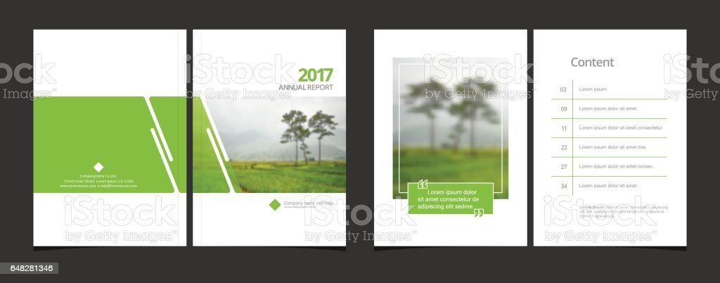 cover design and content page template for corporate