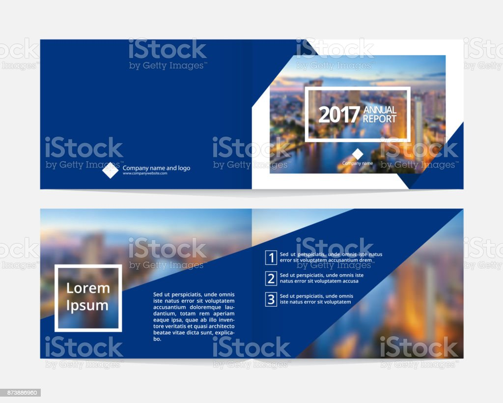 cover design and inner layout page template for annual report or