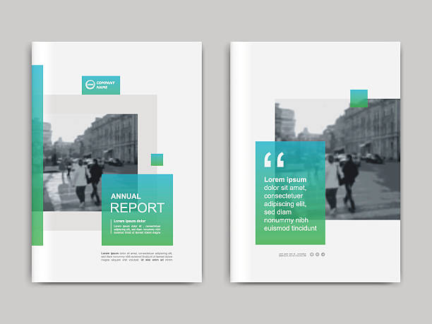 cover design annnual report, flyer, presentation, brochure. - annual reports templates stock illustrations