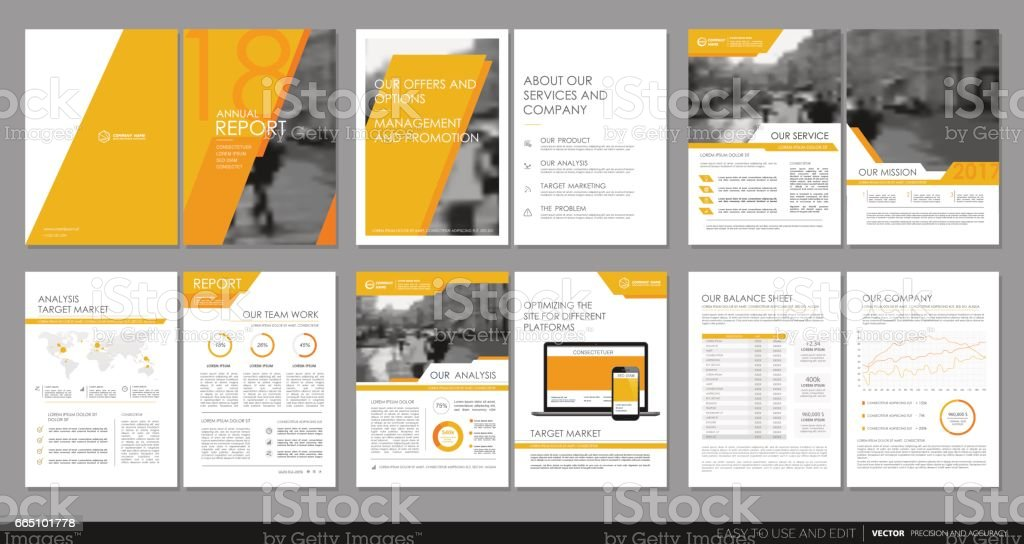 Cover design annual report flyer brochure stock vector art for Abonnement magazine design