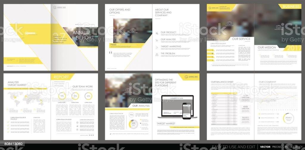 Couvrir le rapport annuel de la conception, dépliant, brochure. - Illustration vectorielle