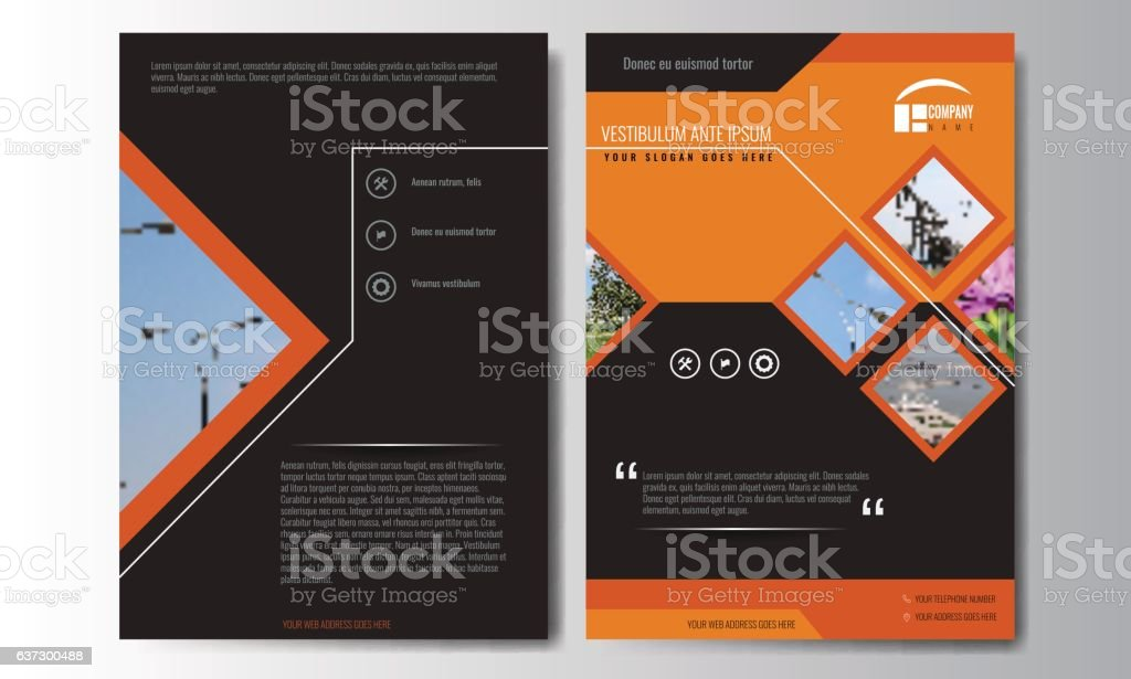Cover design annual report, vector template of brochures, flyers