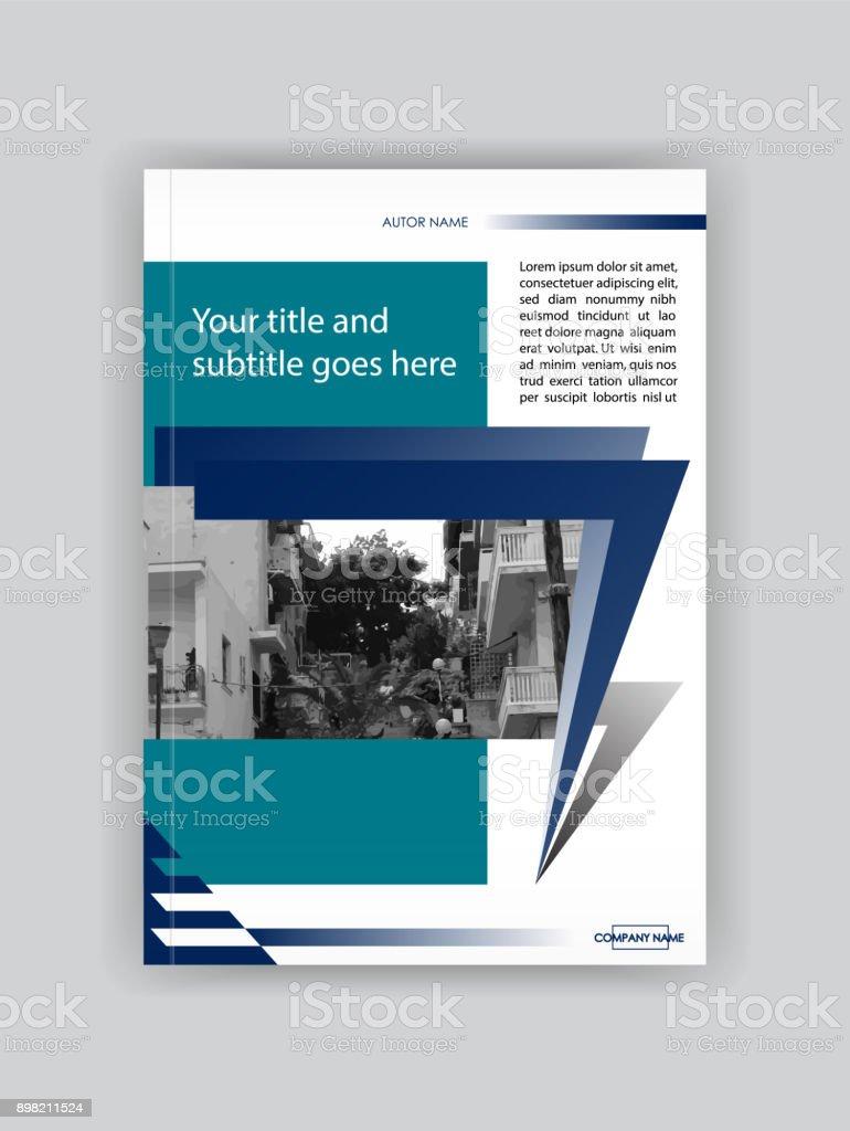 Ilustración de Cubrir La Plantilla De Diseño Folleto Libro Revista ...