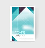 Cover design. Brochure, flyer, annual report cover template. a4 size. modern Geometric Abstract background. sacred geometry triangles. blurred background vector-stock