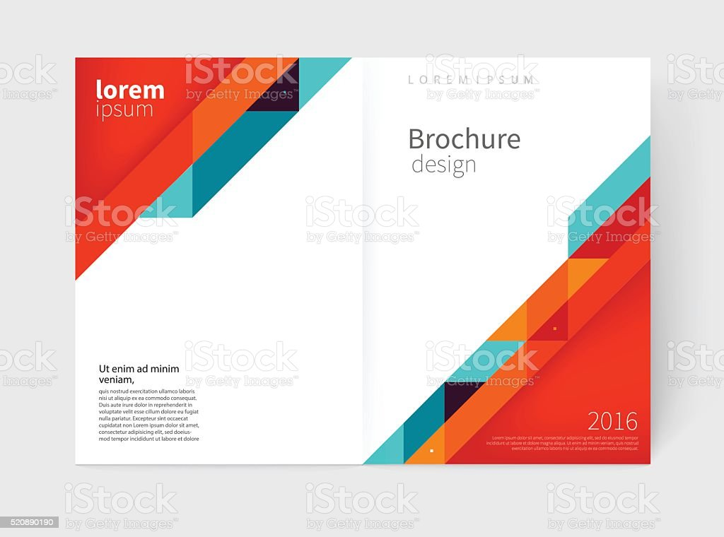 Cover design. Brochure, flyer, annual report cover template vector art illustration