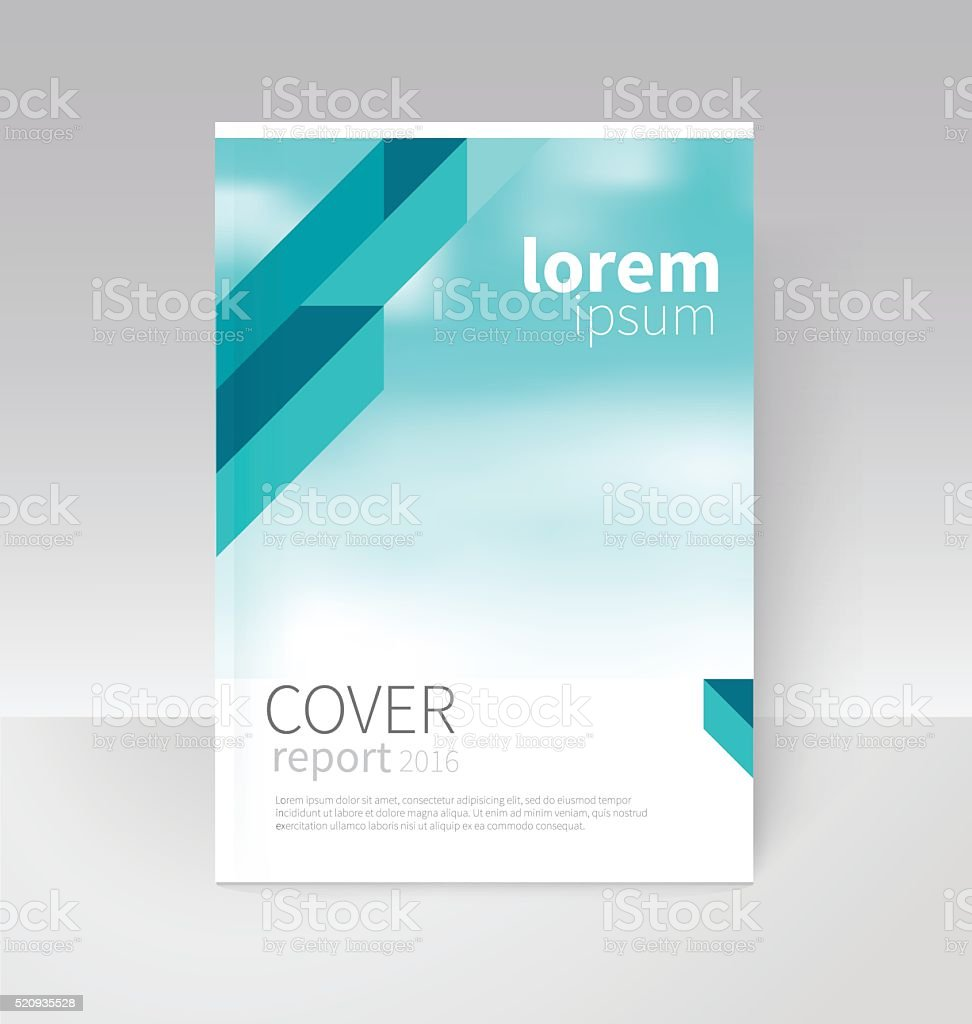 Cover Design Brochure Flyer Annual Report Cover Template Stock ...