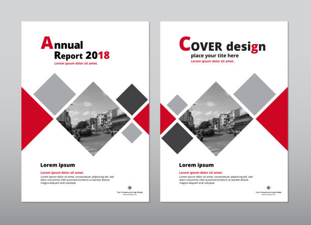 cover design for annual report and book cover design. - katalog stock illustrations