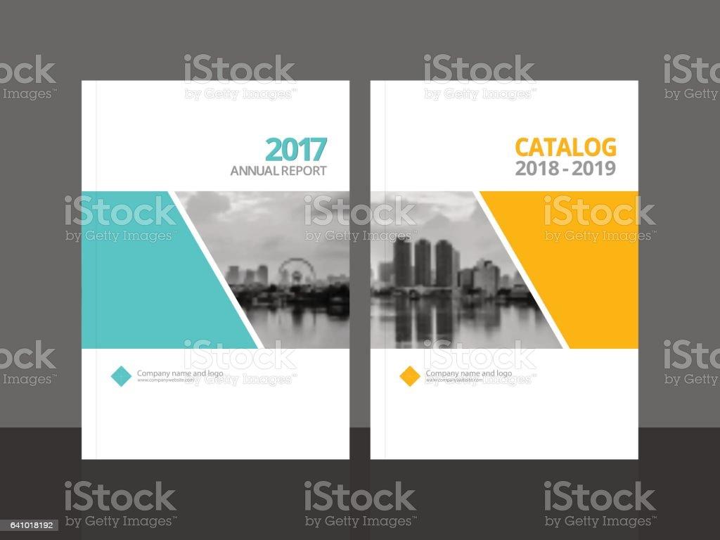 Diseño De Portada Para Catálogo Anual De Informe Y Negocios ...