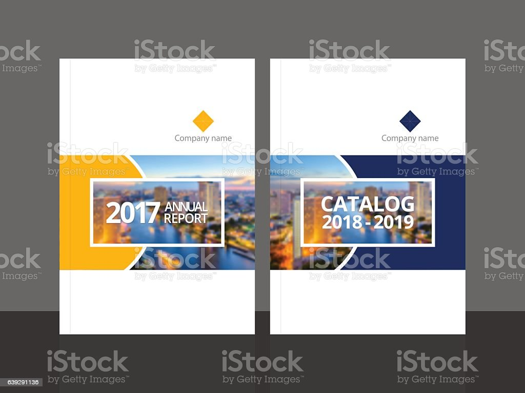 Corporate Book Cover Design Vector : Cover design for annual report and business catalog stock