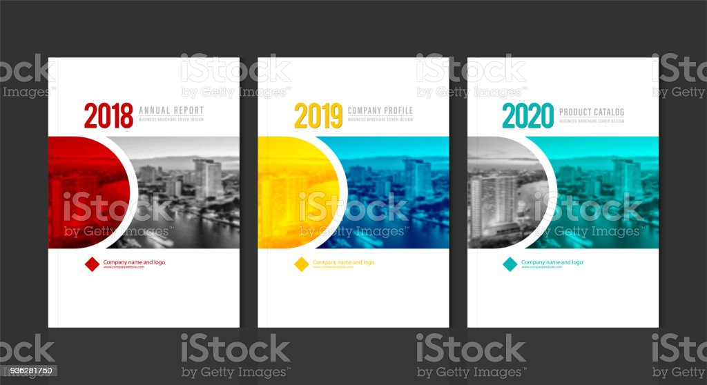 cover design for annual report business catalog company profile
