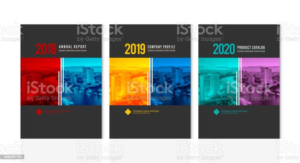 cover design for annual report business catalog company profile
