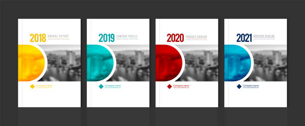 cover design for annual report business catalog company profile brochure magazine flyer booklet poster banner. a4 template element cover vector eps-10 sample image with gradient mesh. - katalog stock illustrations