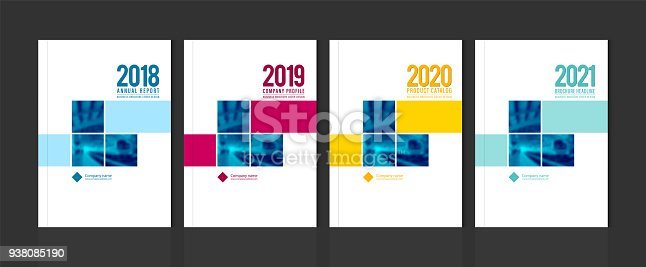Cover design for annual report business catalog company profile brochure magazine flyer booklet poster banner. A4 template element cover vector EPS-10 sample image with Gradient Mesh.