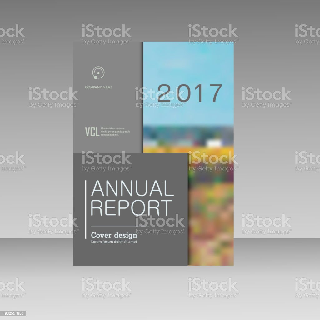 cover design for annual report catalog or magazine book or brochure