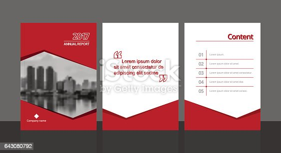 Cover Design For Annual Report Or Business Catalog Magazine Flyer Booklet And Content Page