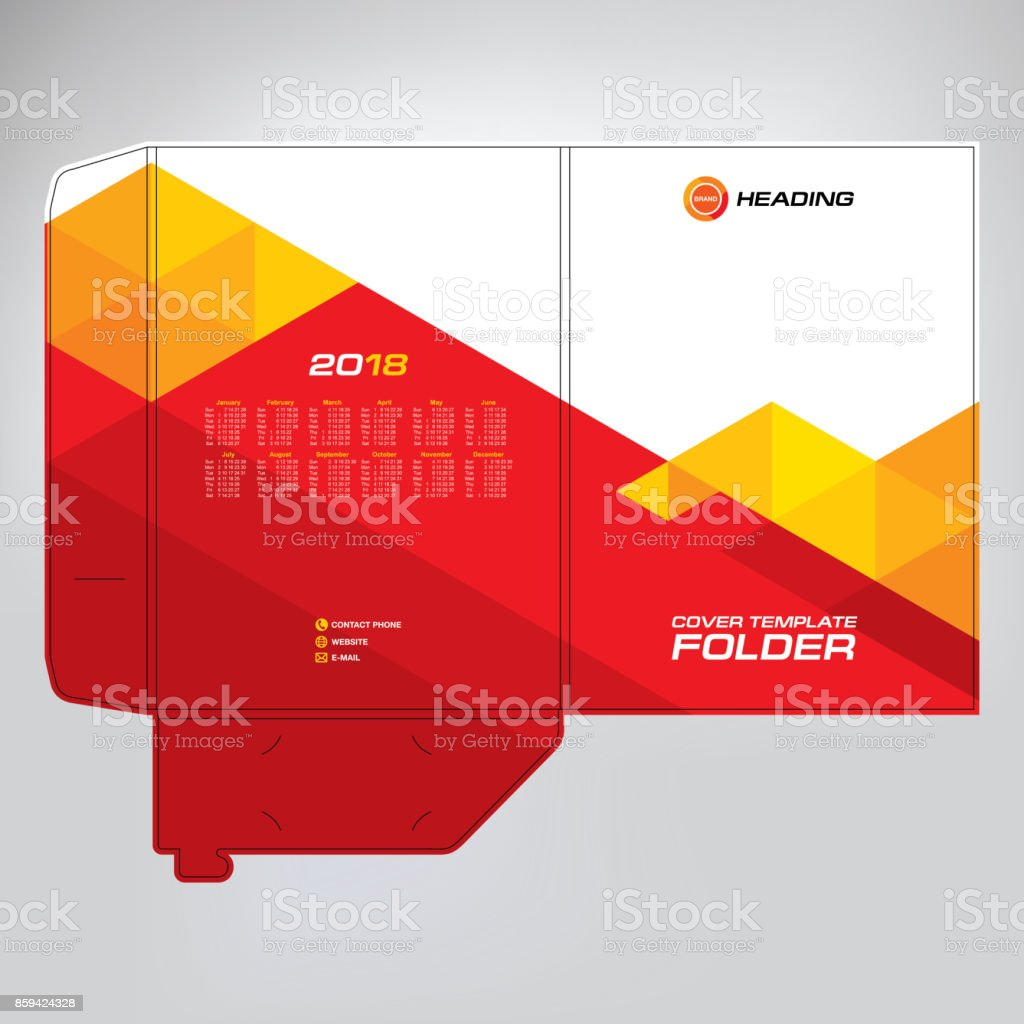 cover design for folder brochure catalogue layout for placement of