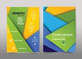 Cover design geometric shape design on background.