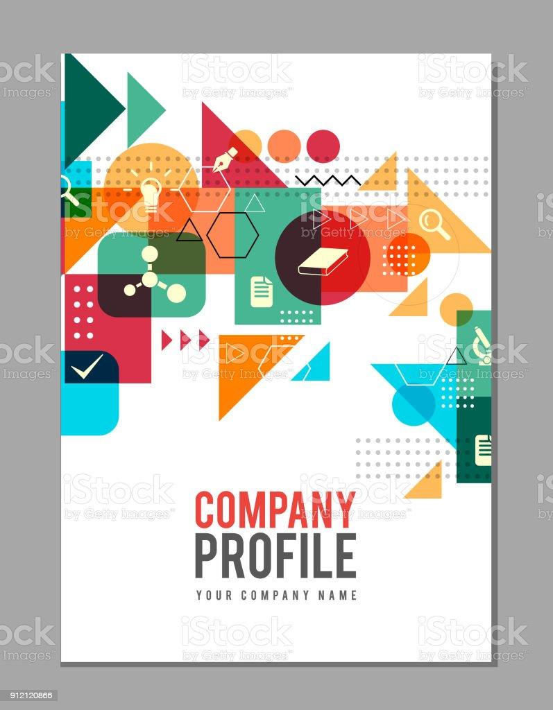Cover design on education vector art illustration